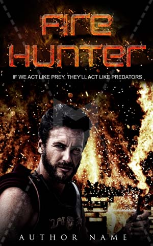 Thrillers-book-cover-hunter-fire-warrior-knight