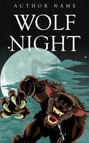 Thrillers-book-cover-wolf-man-moon-night