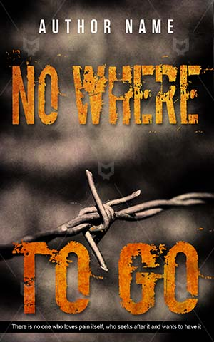Thrillers-book-cover-Barb-wire-No-where-Thriller-covers-Wire-Fragment-Metal-Sign-Freedom-Danger-Steel-Sharp-Barbed-Trapped