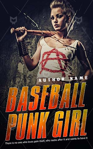 Thrillers-book-cover-Fight-Destruction-Anger-Baseball-Girl-Punk-Thriller-design-Violence-Aggression-Woman-bat