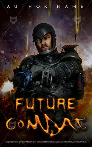 Thrillers-book-cover-Futuristic-Soldier-In-War-Robot-Book-Cover-Covers-Alien-For-Kids