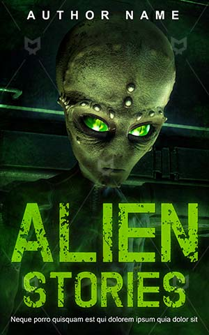 Thrillers-book-cover-Green-Alien-Ufo-thrillers-Space-Invasion-Flying-Stories-Premade-covers-thriller-Vector-Night-Star