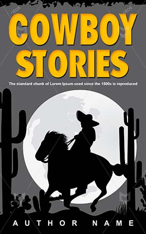 Thrillers-book-cover-Man-Desert-Horse-Cowboy-covers-Vector-Travel-Western-Outdoor-Thriller-Retro-Sunrise-Sunset-Hat
