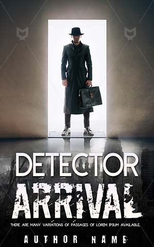 Thrillers-book-cover-Man-Government-Suitcase-Agent-Premade-covers-thriller-Secret-Arrival-Danger-Male-Standing-Dark