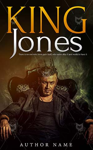 Thrillers-book-cover-Man-King-Jones-Confident-Crown-Premade-covers-thriller-Lifestyle-Dark-man-Successful