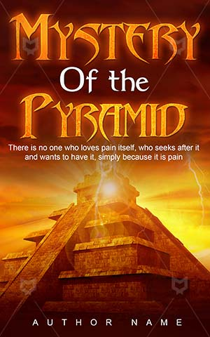 Thrillers-book-cover-Mystery-Pyramid-Thriller-Sky-design-Golden-Temple-Ruins-Scary-temple-Glowing-Wonder