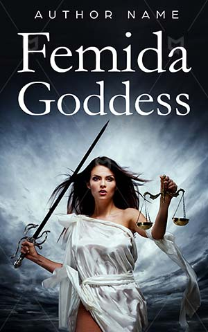Thrillers-book-cover-Pretty-Woman-Goddess-Thriller-Sky-Justice-Scale-Sword-Storm-Femida-Balance-Judgement-Court-Judge-Honesty