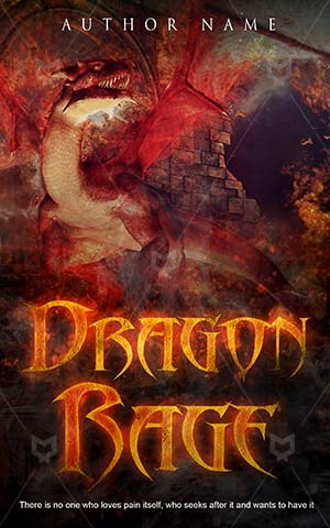 Thrillers-book-cover-Red-Dragon-covers-Stone-Graphic-Smoke-Castle-Dark-fantasy-dragon