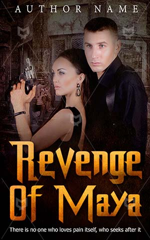 Thrillers-book-cover-Revenge-Couple-Maya-Thriller-design-Action-Danger-Man-Dangerous-Love-Romance-Tender-love-Stand-Together-Pair