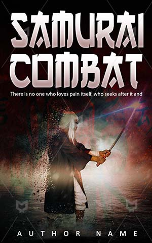 Thrillers-book-cover-Samurai-Worrier-Combat-Young-samurai-Fighter-Martial-art-Rain-Man-Fantasy-Magic-design-Sword-Powerful
