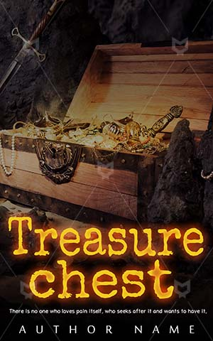 Thrillers-book-cover-Treasure-Bright-Gold-Old-Open-Chest-Cave-chest-island-box-trove-Space-ship